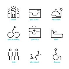 icon set - Braila city by cristiana costin, via Behance