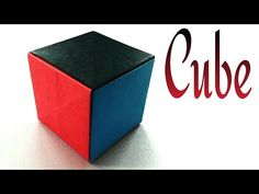 "Modular Origami - ""Simple Paper Cube"" - Very easy, anyone can do !! - YouTube"