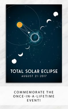 A once-in-a-lifetime event deserves to be remembered.  Commemorate the total solar eclipse of 2017 with a giclee art print showing the eclipse progression and diagram.