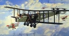 Bloody Paralyser – The Giant Handley Page Bombers of the First World War –… Old Planes, Air Force Aircraft, Aircraft Painting, Airplane Art, Aviation Art, Military Art, World War I, Ciel, Paintings