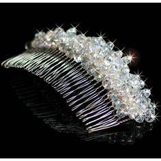 Chelsea Crystal Tiara Comb by Geraldine Fay on Rise Creatives