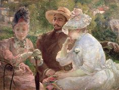 On the Terrace at Sèvres -  Bracquemond, Marie