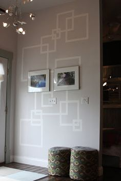 How to do artistic wall art projects using blue painters tape!