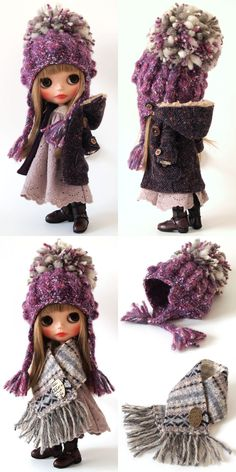 Winter outfit for Blythe – BuzzTMZ Blythe Dolls, Girl Dolls, Doll Closet, New Dolls, Clay Dolls, Pretty Dolls, Custom Dolls, Ball Jointed Dolls, Doll Accessories