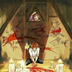 Imagen de gravity falls, blood, and bipper