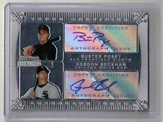 2009 Bowman Sterling Buster Posey / Gordon Beckham Auto Dual Rookie Card Giants #sfgiants #SanFranciscoGiants