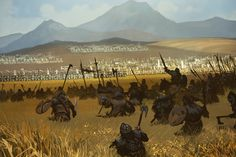 Battle of the Green Fork, Tomasz Jedruszek on ArtStation at https://www.artstation.com/artwork/vzyzA