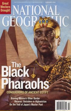 Egypt was ruled by black pharaohs for nearly 100 years, but their role as leaders of the ancient civilization has been largely kept in the dark because of racism, according to this month's National Geographic magazine. African Empires, African American History, Black History Facts, Black History Month, Strange History, Ancient Egypt, Ancient History, Greek History, Tudor History