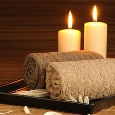 spa time with candles