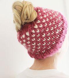 Valentine's Day Chunky Bun Hat!