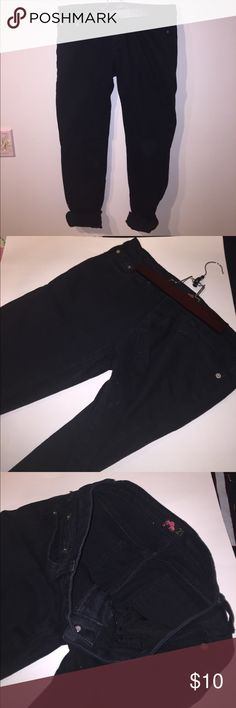 Forever 21 Black Jeans Forever 21 Black Jeans, women's size 30, 5 pockets, rolled up ankle hem for picture, but straight leg jeans, worn several times- still in decent condition! Forever 21 Jeans Straight Leg