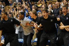 The bench reacts during Duke's comeback against UNC in 2011. Down by 14 at the break, Duke overcame its biggest halftime deficit in 52 years.