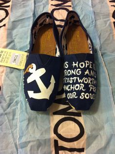 33b03cae990 Custom Hand Painted Anchor Toms by BekasBargains on Etsy Painted Toms