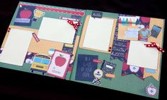 This layout kit features adorable school themed diecuts and stickers, perfect for featuring photos of your little teacher's pet! The 12x12 two