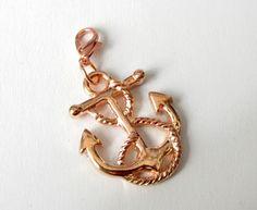Charms - Charms Anhänger gr.  Anker maritim rosegold - ein Designerstück von soschoen bei DaWanda