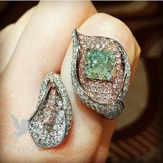Be a total chic with this green diamond by @jewelryjournal #purplebyanki #love…