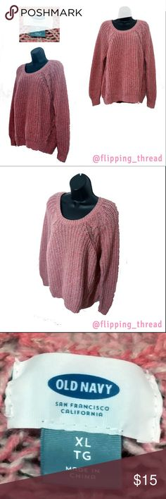 Old Navy Coral Sweater - Size XL Old Navy Coral Sweater - Size XL  Warm & comfy, this sweater will be a great wardrobe addition for the coming fall & winter months.  Pre-loved, only worn once.  41% Polyester, 36% Acrlic, 23% Wool  Machine wash cold  RN # 54023 CA # 17897  Bust 45 Shoulders 18 Sleeves 17.5 Waist 44 Hips 43 Length 16  Measurements provided in inches. Length for tops/dresses from the armpit unless otherwise noted. All of my items are measured in unstretched state. 💨 🚚 Fast…