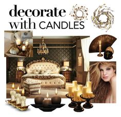 """Candle Glam"" by gonzo-lodge ❤ liked on Polyvore featuring interior, interiors, interior design, home, home decor, interior decorating and decoratewithcandles"