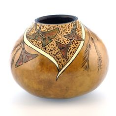 "Gourd and Stone Ideas | Gourd Art - ""Carved Filigree Bowl"""