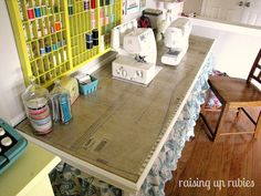 Pattern piece sewing table