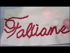 Como bordar nome com máquina doméstica (singer) - YouTube