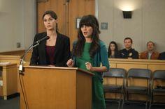 "Jess' (Zooey Deschanel) green dress from the ""Jess & Julia"" episode of NEW GIRL on FOX."