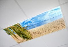 Beach Fluorescent Light Covers, $29.99