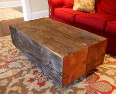 Eastside Coffee Table   Solid Douglas Fir Construction Modern Rustic Design