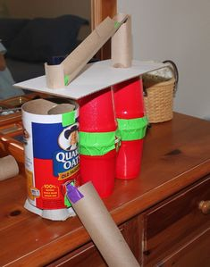 Make a Marble Run: Get out the recycling bin and gather the family. Work together to make the biggest, most elaborate marble run you can come up with. This link from Frugal Fun for Boys has some wonderful marble run inspiration!