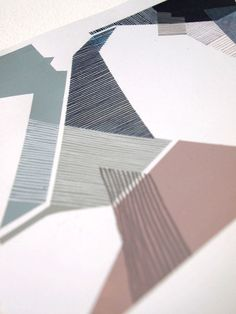 http://sarahlouisematthews.co.uk/page4.htm , Sarah Louise Matthews paper manipulation/ hand drawn patterning. Reminds me of the shapes in architectural blueprints. Accessed 15/7/13