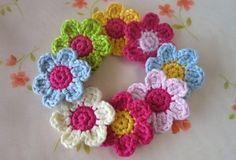 Mejores 23 Imagenes De Flores Tejidas Crochet Y Dos Agujas En - Flores-ganchillo