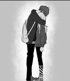 ♥ - A girl falls in love, a boy in love, a love full of mysteries, broken hearts, cla - Cute Couple Drawings, Anime Couples Drawings, Cute Couple Art, Anime Couples Manga, Cute Anime Couples, Anime Couples Hugging, Kawaii Anime, Sad Anime, Manga Anime