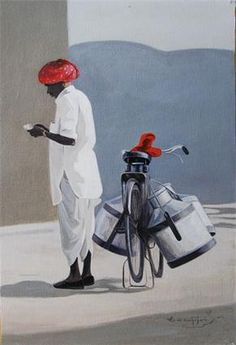 The Milkman Indian Contemporary Art
