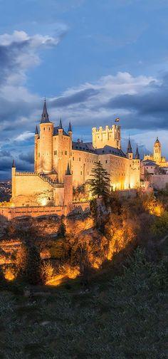 At the Segovia Castle in Spain.
