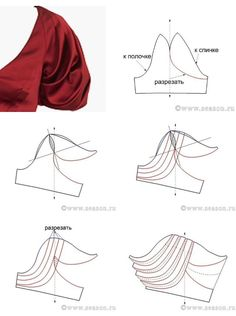 Sleeve pattern alteration that will create a lovely draping effect when sewn with pleats. Sleeve pattern alteration that will create a lovely draping effect when sewn with pleats. 27 elegant photo of custom sewing patterns Sleeves Designs For Dresses, Sleeve Designs, Dress Sewing Patterns, Clothing Patterns, Sewing Clothes, Diy Clothes, Sewing Sleeves, Pattern Draping, Modelista