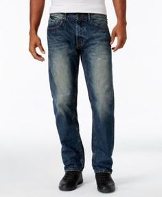 Sean John Men's Bedford Relaxed-fit Flap-Pocket Jeans, Only at Macy's - Brown