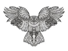 Illustration about Hand drawn high detailed owl head for adult coloring page. Isolated sketch with zentangle illustration. Illustration of forest, boho, background - 61043609 Adult Coloring Pages, Pattern Coloring Pages, Mandala Coloring Pages, Animal Coloring Pages, Colouring Pages, Printable Coloring Pages, Coloring Books, Free Coloring, Doodle Coloring
