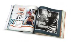 another shutterfly photo book layout idea Book Cover Page, Cover Pages, Shutterfly Photo Book, Becky Higgins, Page Turner, Book Layout, Photo Memories, Memory Books, Photo Tips