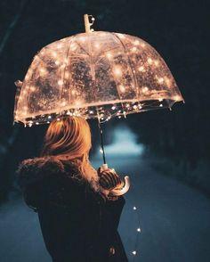 Illuminating umbrella