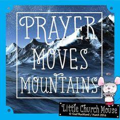 Do you believe in the power of prayer??  #LittleChurchMouse