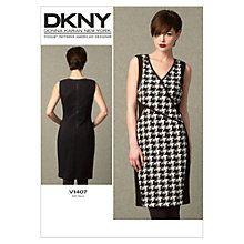 Buy Vogue DKNY Women's Dress Sewing Pattern, 1407 Online at johnlewis.com