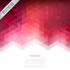Fondo geométrico en tonos rojos Vector Gratis