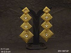 DIFFERENT SIZE CHOKOR STYLE LONG ANTIQUE EARRINGS