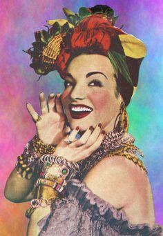 Carmen Miranda The Brazilian Bombshell Carmen Miranda, Classic Hollywood, Old Hollywood, Vintage Photographs, Vintage Photos, Arte Pop, Bombshells, Vintage Posters, Pop Art