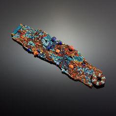 Nebula Cuff #1 by Julie Powell (One of a Kind Beaded Bracelet)   Artful Home