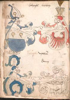Wernigeroder (Schaffhausensches) Wappenbuch Süddeutschland, 4. Viertel 15. Jh. Cod.icon. 308 n  Folio 88v