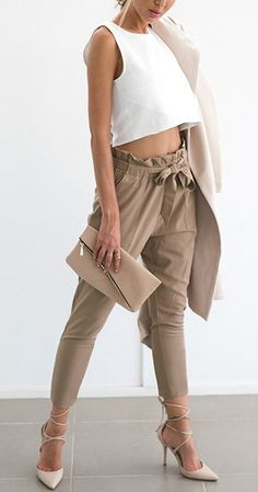 """Item specifics: Material:Polyester Length:Ankle-Length Pants Style:""""European and American Style Fit Type:Regular Fabric Type:Chiffon Closure Type:Elastic Waist Decoration:Pockets,Sashes Patte…"""