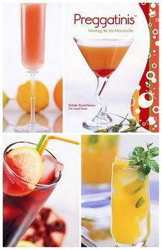 Mock-tails for the Mama-To-Be--Love this!! Cute for baby showers.