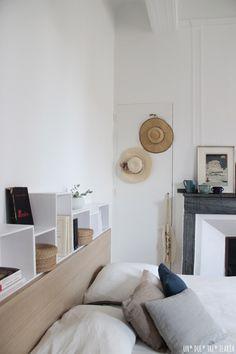un due tre ilaria CHEZ NOUS ⎬OUR MASTER BEDROOM.belle idée avec la tête de lit Ikea