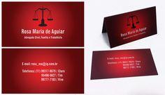 Cartão de visita – Rosa Maria (Advogada)